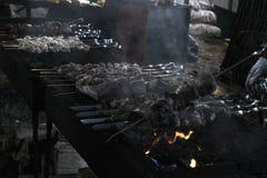 Grilled shish kebab royalty free stock image