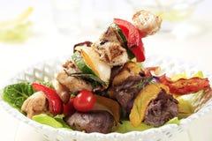 Grilled shish kebabs Royalty Free Stock Photo