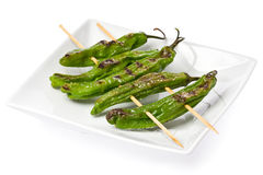 Grilled Shishito Peppers Royalty Free Stock Photos