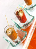 Grilled shooters glass Royalty Free Stock Photography