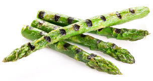 Grilled shoots of asparagus. Stock Photography