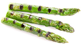 Grilled shoots of asparagus. Stock Image