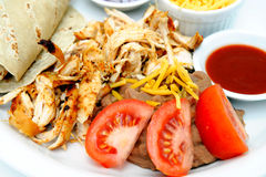 Grilled Shredded Chicken Royalty Free Stock Photo