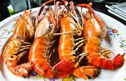 Grilled shrimp. Stock Photo