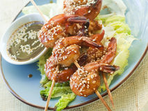 Grilled shrimp Royalty Free Stock Image