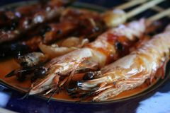 Grilled shrimp Royalty Free Stock Images