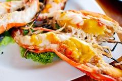 Grilled shrimp closeup Stock Photo