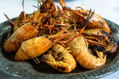 Grilled shrimp. Crawfish   grilled shrimp   Kung Pao  thai grilled shrimp    seafood Stock Photography