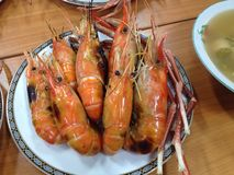 Grilled shrimp Royalty Free Stock Photos