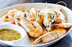 Grilled shrimp,grilled prawn Stock Photography
