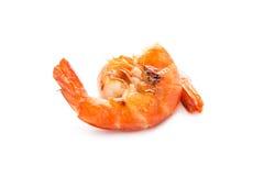 Grilled shrimp isolated on white Stock Photos
