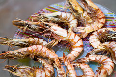 Grilled shrimp Stock Photography