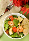 Grilled Shrimp Salad Royalty Free Stock Photo