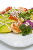 Grilled Shrimp salad with avocado Stock Image