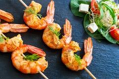 Grilled Shrimp skewers. Stock Image
