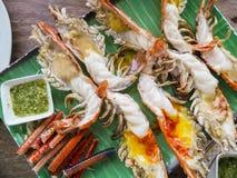 Grilled shrimp royalty free stock photo