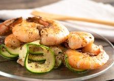Shrimp dinner stock images