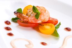 Grilled shrimps Royalty Free Stock Images