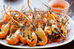 Grilled shrimps. Stock Photos