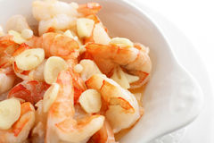 Grilled shrimps with garlic Stock Image