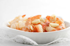 Grilled shrimps with garlic Stock Images