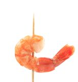 Grilled shrimps on a stick. Royalty Free Stock Photos