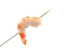 Grilled shrimps on a stick. Stock Photography