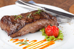 Grilled sirloin steak Stock Image