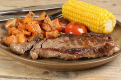 Grilled sirloin steak Stock Images