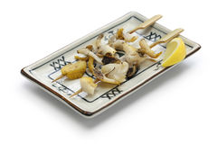 Grilled skewered whelks, japanese food Stock Image
