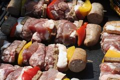 Grilled Skewers Royalty Free Stock Images