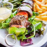 Grilled skewers Royalty Free Stock Photography