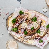 Grilled Breams with Beer