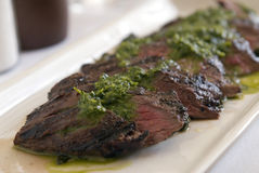 Grilled skirt steak Royalty Free Stock Photos