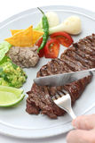 Grilled skirt steak, mexican cuisine Stock Photography