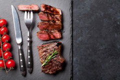 Grilled sliced beef steak Stock Images