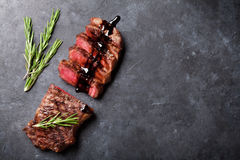 Grilled sliced beef steak Royalty Free Stock Photos