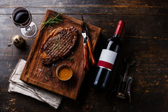 Grilled sliced Steak Rib eye with Pepper sauce Stock Photography