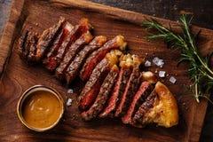 Grilled sliced Steak Striploin Royalty Free Stock Photos