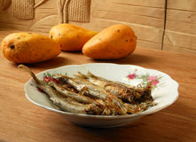 Grilled smelts seafood Royalty Free Stock Photo