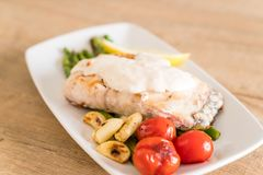 Grilled snapper fish steak Stock Images