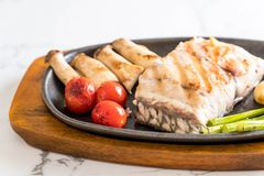 Grilled snapper fish steak Stock Photo