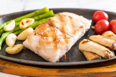 Grilled snapper fish steak Royalty Free Stock Photography