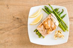 Grilled snapper fish steak Stock Image