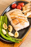 Grilled snapper fish steak Stock Photography