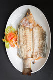 Grilled snapper with salt Royalty Free Stock Images
