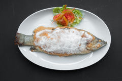 Grilled snapper with salt Royalty Free Stock Photos