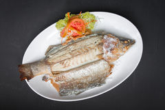 Grilled snapper with salt Stock Photography