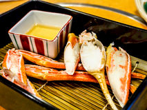 Grilled snow crab legs in Japanese restaurant Royalty Free Stock Image