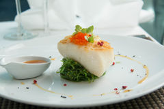 Grilled Snow Fish with  sauce. Stock Images